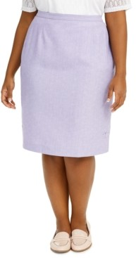 Alfred Dunner Plus Size Nantucket Pencil Skirt
