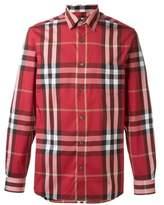 Burberry Men's Red Cotton Shirt.