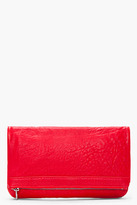 ALEXANDER WANG Red Leather Soft Clutch