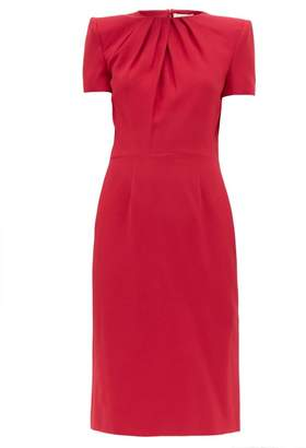 Alexander McQueen Draped Crepe Dress - Womens - Dark Pink
