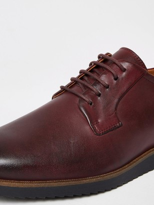 River Island Wedge Sole Derby Shoes - Red
