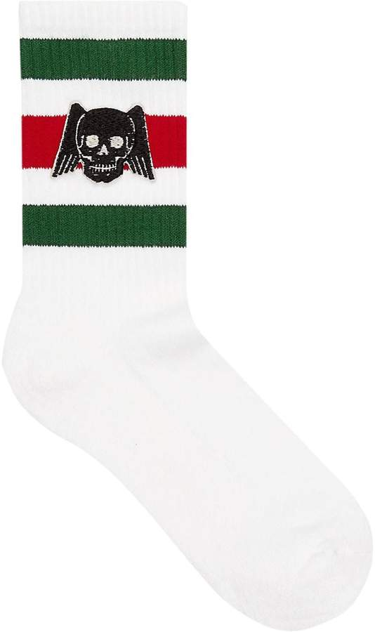 Gucci Cotton socks with winged skull