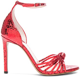 Altuzarra Embossed Patent Leather Parker Heels in Red.