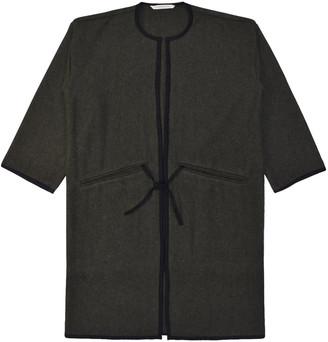 Lanefortyfive Musta4 Women's Coat - Green Wool Melton