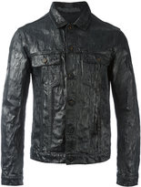 Jil Sander coated effect shirt jacket - men - Cotton - M
