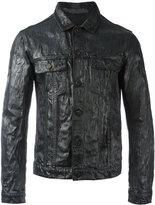 Jil Sander coated effect shirt jacket