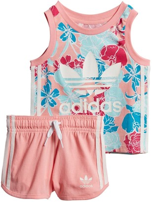 adidas InfantGirls Tank Short Set - Pink