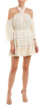 MISA Los Angeles Crinkle A-Line Dress