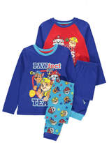 George 2 Pack Paw Patrol Pyjamas