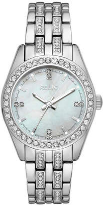 Fossil RELIC BY Relic By Womens Silver Tone Bracelet Watch-Zr34420
