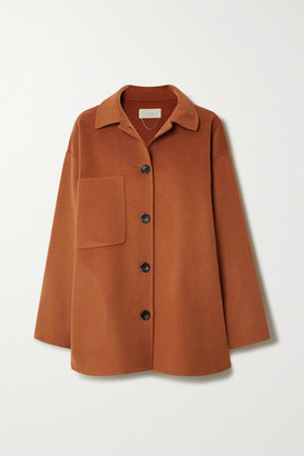 Vanessa Bruno Naive Wool And Cashmere-blend Coat - Orange