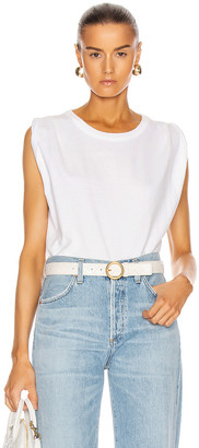 Citizens of Humanity Jordana Rolled Sleeve Tee in White | FWRD