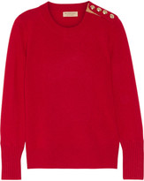Burberry Button-detailed Cashmere Sweater - Claret