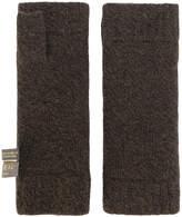 N.Peal fur-lined fingerless gloves