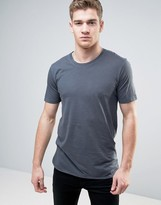 ONLY & SONS Longline T-Shirt With Drop Curved Hem in Organic Cotton