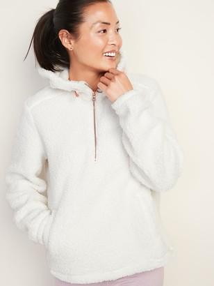 Old Navy Plush Sherpa 1/2-Zip Hoodie for Women