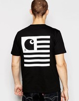 Carhartt State T-shirt With Back Print - Black