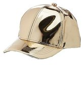Charlotte Russe Faux Patent Leather Baseball Hat