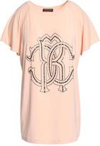 Roberto Cavalli Embellished Stretch-Modal T-Shirt