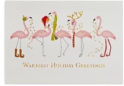 MASTERPIECE Flamingo Holiday Cards, Set of 18