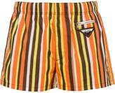 Prada striped swim trunks