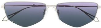 McQ Swallow Gradient Geometric-Print Sunglasses