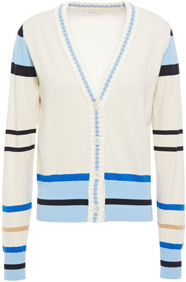 Chinti and Parker Color-block Cotton Cardigan