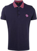 Fendi contrast collar polo shirt - men - Cotton - 52