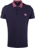 Fendi contrast collar polo shirt - men - Cotton - 54
