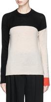 Rosetta Getty Colourblock wool-cashmere sweater