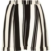 River Island Womens Black and white stripe satin smart shorts