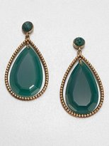 Stephen Dweck Green Agate Drop Earrings