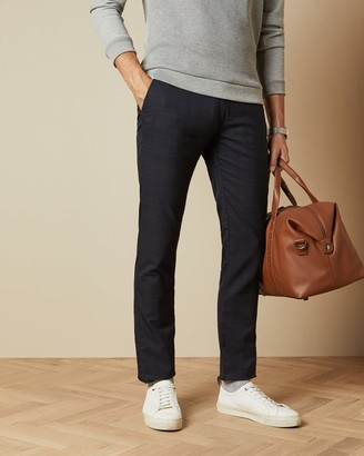 Ted Baker Slim Fit Checked Trousers