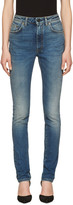 Saint Laurent Indigo High Waisted Skinny Jeans
