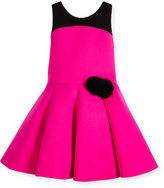 Zoë Ltd Sleeveless Two-Tone Pleated Dress, Pink/Black, Size 7-16