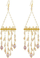 Nakamol Freshwater Pearl & Crystal Fringe Earrings