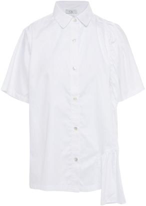 Clu Gathered Cotton-poplin Shirt
