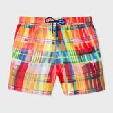 Paul Smith Men's 'Graphic Check' Print Swim Shorts