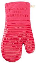 Kate Spade Diner Stripe Eat More Cake for Breakfast Oven Mitt