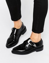 T.U.K. Western Leather Point Flat Shoes