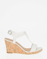 Le Château Leather T-Strap Wedge Sandal