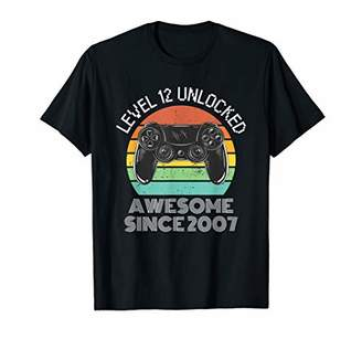 Teenager Level 13 Unlocked Awesome Since 2007 Gamer Gift Boy T-Shirt