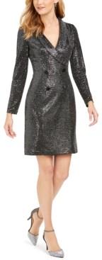 Jessica Howard Metallic Tuxedo Dress