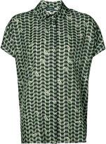 Alena Akhmadullina - geometric print short sleeve shirt - women - Silk/Viscose - 38