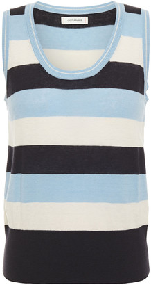 Chinti and Parker Striped Linen And Cotton-blend Jersey Tank