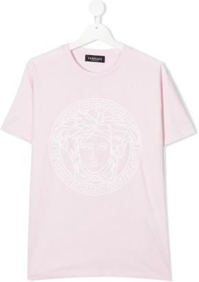 Versace TEEN Medusa print cotton T-shirt