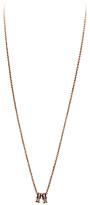 Dyrberg/Kern Dyrberg Kern Fermi Swarovski Crystal Double Band Pendant Necklace, Rose Gold