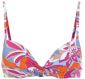 Emilio Pucci Beach Printed bikini top