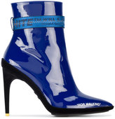 Off-White For Walking Patent Leather Ankle Boots