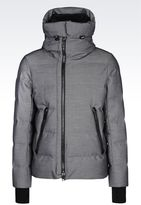 Emporio Armani Down Jacket In Nylon With Removable Hood